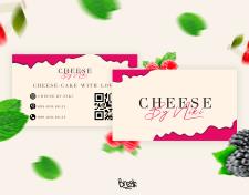 """Визитка для домашней выпечки чизкейков """"Cheese by Niki"""""""