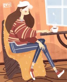 Одинокий кофе