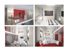 Red Studio Apartment