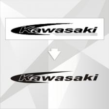 Логотип Kavasaki разработан для наклейки на мотоцикл