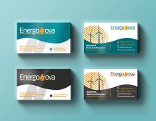 """Визитки для компании """"EnergoNova"""""""