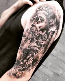 Тату зевс пегас tattoo Zeus Pegasus