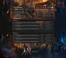 Макет форума игровой тематики
