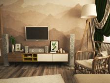 Дизайн гостинной в 3к квартире