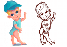 Персонаж малюка