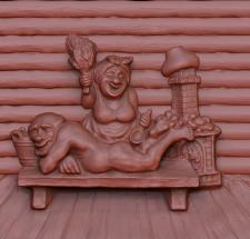 3D рельеф для станка ЧПУ (панно в баню)