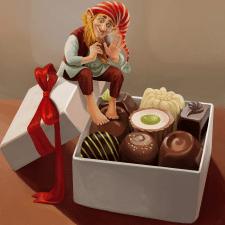 Гном и шоколад