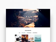 Сайт-портфолио для Ольги Петровой