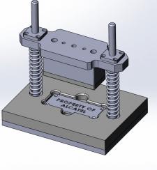Штамп для отпресовки надписей на табличках