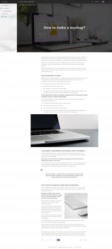 PSD шаблон статьи блога