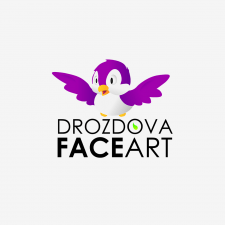 Логотип для грим-проекта Drozdova Faceart