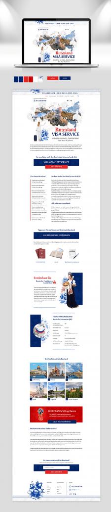 Дизайн примера сайта для визового агенства