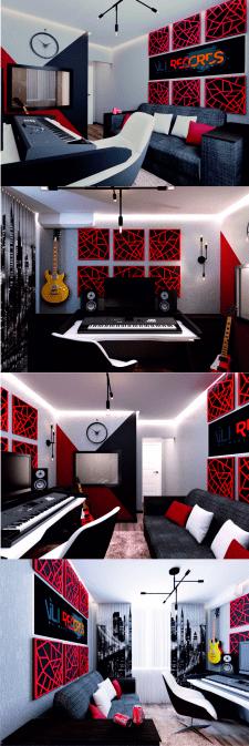 Дизайн студии звукозаписи