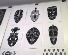 Эскизы к лого с маской