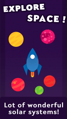"Дизайн страницы Play Market — ""Space Explorer"""