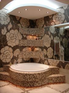Интерьер ванной в частном доме