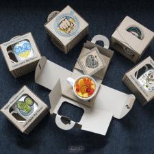 Разработка концепции коробки и декор на посуду