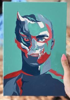 Портрет красками