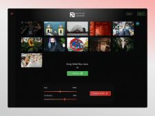 Concept design web app 'RAW to JPG converter'