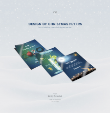 Design of Christmas flyers for a hypermarket