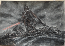 Darth Vader in Watercolor