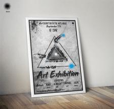 Афиша для выставки искусств