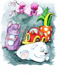 Иллюстрация акварель