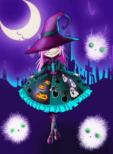 A little witch with a big smile