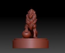 3д-скульптура Лев/ Lion под дальнейшее литье