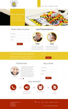 Дизайн сайта для WP темы