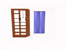 Раздвижная система , шкаф с радиусом.
