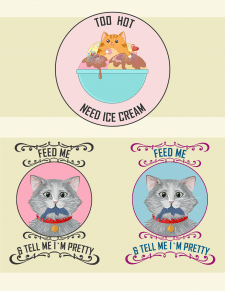 Котики на футболки