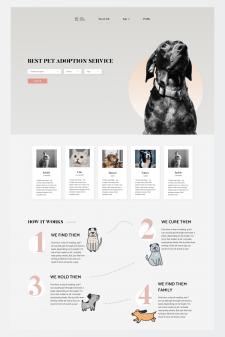 Дизайн для главной страницы приюта для животных