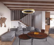 3д моделирование и визуализация гостиной комнаты