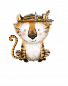 тигр в стиле бохо