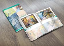 Верстка каталога художницы.