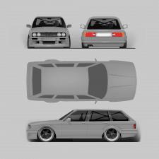 создание макета автомобиля для винилографии