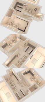3D макет размещения мебели 5