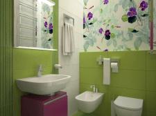 Ванная комната яркого цвета