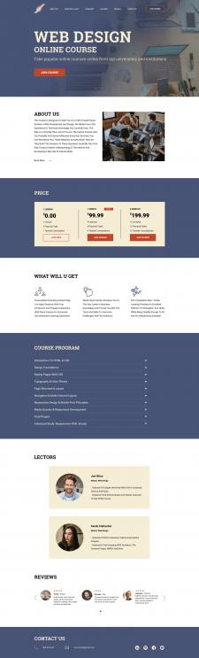 Лендинг для онлайн курсов по Веб-дизайну