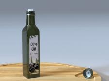Бутылка из-под оливкового масла.