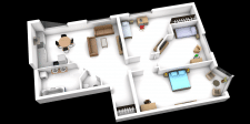 Визуализация перепланировки квартиры