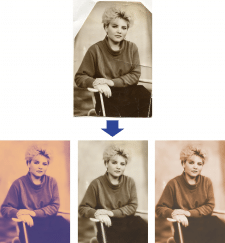 Обработка старого скана фото
