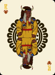 Spielkarten Indians- Farbig10