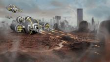 Low poly модель дрона в стилі sci-fi