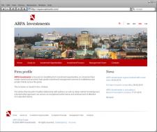 Сайт для ARPA Investments