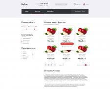 Дизайн главной страницы для сайта MyFrut