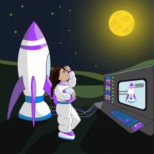 Дівчинка астронавт
