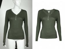 Обработка одежды для интернет-магазина