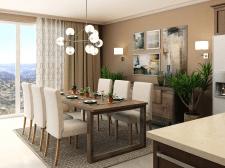 Визуализация кухни-гостиной на Мальте